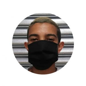 Reusable 3Ply Cloth Face Mask (Cotton) | Black