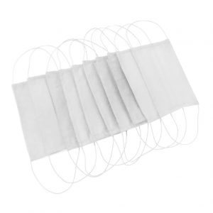 Reusable 3Ply Cloth Face Mask (Cotton) | White (10pc Packs)